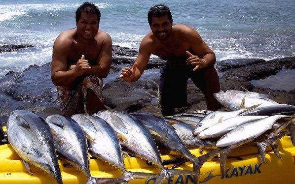 peche kayak hawai